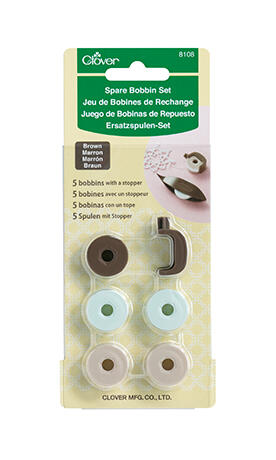 Clover Spare Bobbin Set - Brown