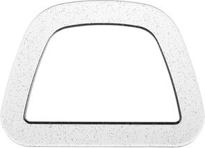 Clover Plastic Handles D-Shaped-Crystal W/Glitter 2/Pkg