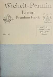 "Wichelt Imports  Wichelt-Permin Linen Graceful Grey, 32 count (18"" x 27"")"