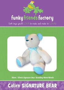 Funky Friends Factory Calico Signature Bear Toy Sewing Pattern