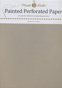 Mill Hill Perforated Paper Painted Grey, 14 Count