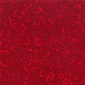 Nutex  Kiwiana Fabric - Moko Red