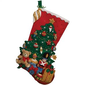 Bucilla Felt Christmas Stocking Kit - Under the Tree