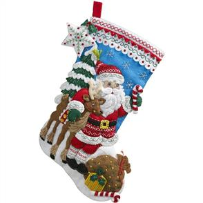 Bucilla  Felt Christmas Stocking Kit - Nordic Santa