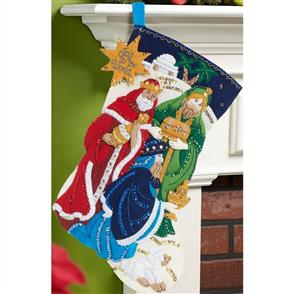 Bucilla Felt Christmas Stocking Kit - Three Kings