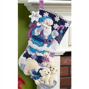 Bucilla  Felt Stocking Applique Kit - Arctic Santa