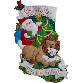 Bucilla  Felt Christmas Stocking Kit - Peace on Earth