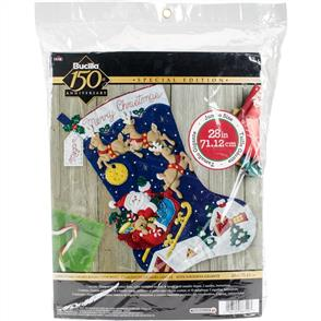 Bucilla Felt Christmas Jumbo Stocking Kit - Christmas Night