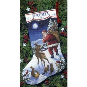 Dimensions  Cross Stitch Stocking Kit - Santa's Arrival - Christmas