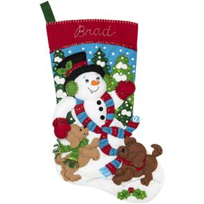 "Bucilla Felt Stocking Applique Kit 18"" Brad"