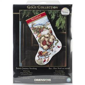 Dimensions  Cross Stitch Stocking Kit - Santa's Journey