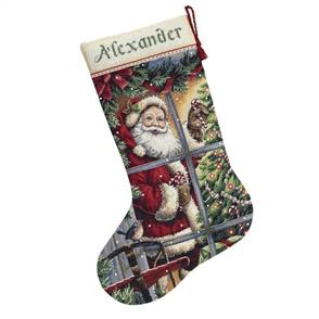 Dimensions  Candy Cane Santa Stocking - Cross Stitch Kit