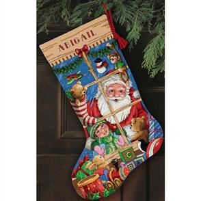 Dimensions  Cross Stitch Stocking Kit - Santa's Toys