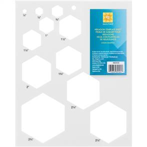 EZ Quilting  Hexagon Template Sheet