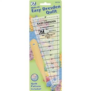 "EZ Quilting  Dresden Quilting Ruler 1"" - 7-1/2"""
