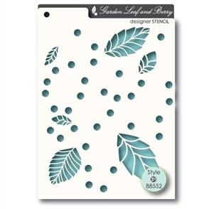 Memory Box Stencil - Garden Leaf & Berry