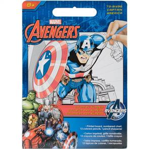 Dimensions Marvel Pencil By Number Kits - Captain America