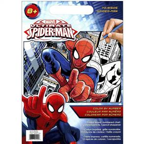 Dimensions Marvel Pencil By Number Kits - Spiderman