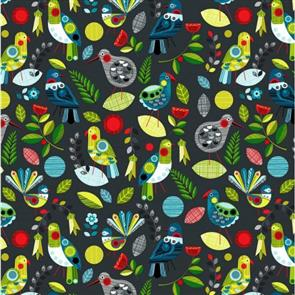 Nutex Kiwiana Fabric - Forest Song Flock