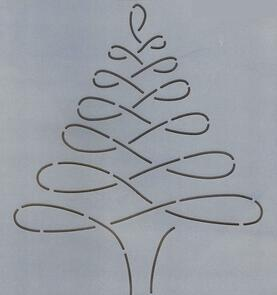 The Stencil Company Quilting Stencil - Continuous Tree 8.25""