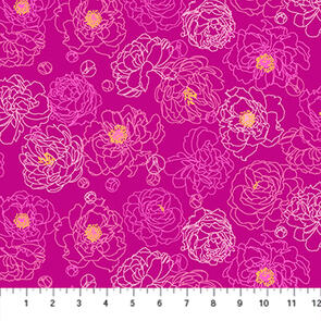 Figo Fabrics - Fabric - Primavera by Pippa Shaw - Pink - 93018-28