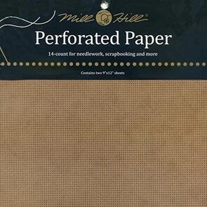 Mill Hill Perforated Paper Antique Brown, 14 count