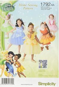 Simplicity Disney Fairies Home Sewing Pattern - Sizes US 1/2,1,2,3