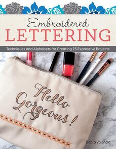 Design Works  Embroidered Lettering
