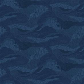 Figo Fabrics  Elements Quilt Fabric - Earth in Navy - 92007-49