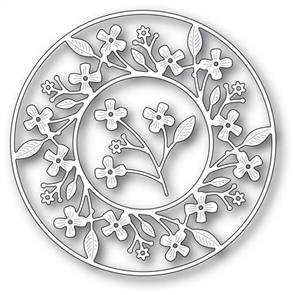 Memory Box Cottage Flower Circle Frame - Dies