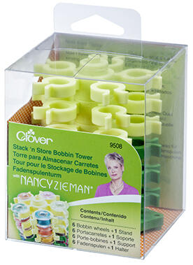 Clover Stack 'n Store Bobbin Tower - Nancy Zieman