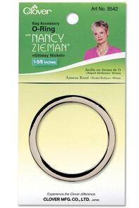 Clover O-Ring 40mm Nickel | Nancy Zieman