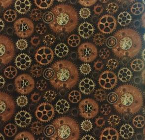 Blank Quilting  Unknown Voyage - Gears - Chocolate