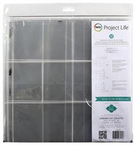 "American Crafts  Project Life Photo Pocket Pages 12""X12"" 12/Pkg Heidi Swapp - Landscape Panoramic"