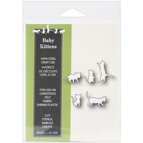 Poppystamps  Die - Baby Kittens - Cats