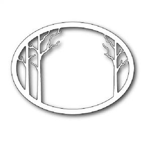 Memory Box  Die - Forest Clearing Oval Frame