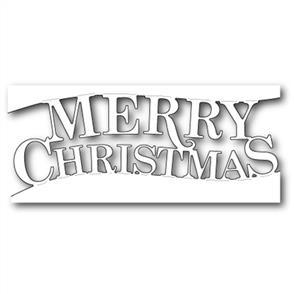 Memory Box  Die - Fancy Merry Christmas Channel