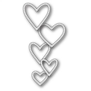Memory Box  Die - Classic Stitched Heart Rings
