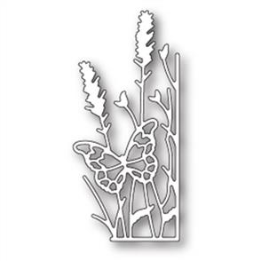 Memory Box  Die - Large Lavender Butterfly Right Corner