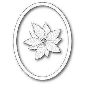 Memory Box  Die - Decorative Poinsettia Oval