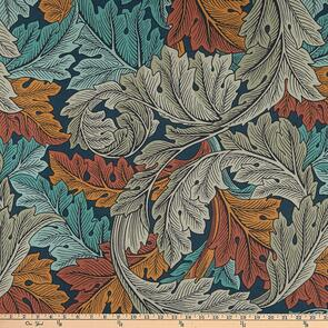 """Free Spirit  Morris and Co - Wide Back - 108"""" - Acanthus Autumn"""