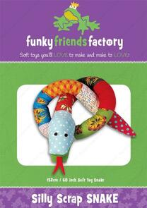 Funky Friends Factory Silly Scrap Snake Toy Sewing Pattern