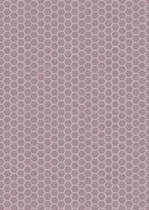 Lewis & Irene  - Queen Bee - Honeycomb on Lilac 103