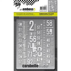 Carabelle  Studio Embossing Folder - Measuring Tape