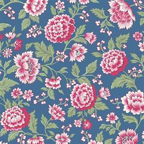 Andover Fabric  Belle Fleur - 8004 Blue