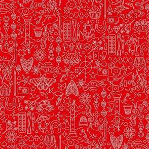 Andover Fabric  Sun Print - 9036 Red