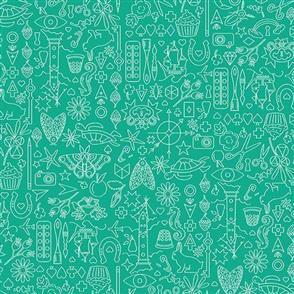 Andover Fabric  Sun Print - 9036 Teal