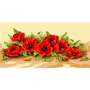Anchor  Royal Paris Canvas: Tapestry Spray of Poppies