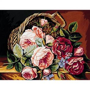 Anchor  Royal Paris Canvas: Tapestry Basket of Roses