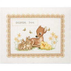Anchor  Essential Kits: Cross Stitch Animal Birth Record